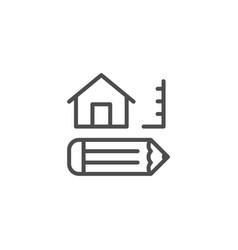 architecture line icon vector image