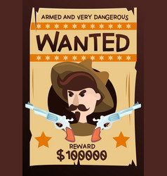 Armed dangerous wanted vintage poster vector