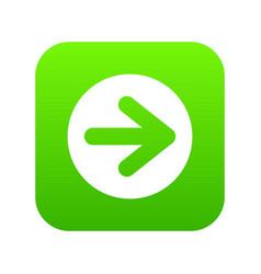 arrow in circle icon digital green vector image