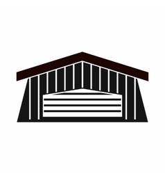 Barn icon simple style vector