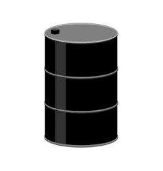 barrel oil isolated black fuel container on white vector image