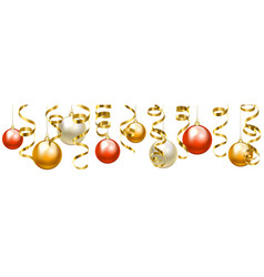 Baubles border vector