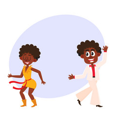Black african american couple man and woman vector