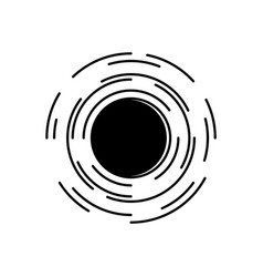 Black hole in universe symbol with spacetime vector