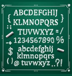 Board with a set of sketch symbols vector