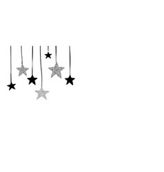 Christmas background with black and silver stars vector