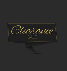 clearance sale label template vector image
