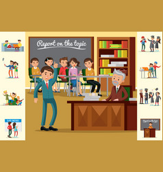 Colorful education concept vector