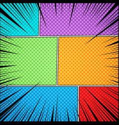 comic page colorful template vector image