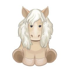 Cute horse isolated vector