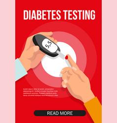 diabetes glucose monitoring doctor testing blood vector image