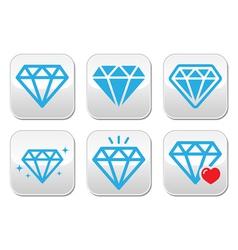 Diamond luxury buttons set vector