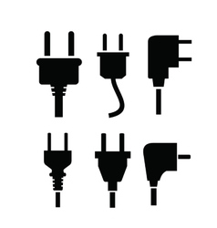 electric plug icon vector image