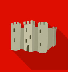 english castle icon in flat style isolated on vector image