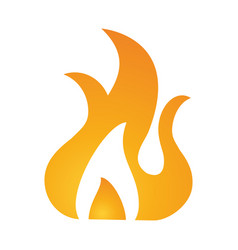 fire flamme symbol vector image