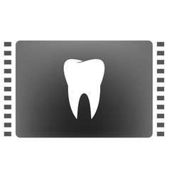 flat paper cut style icon of tooth dentistry vector image