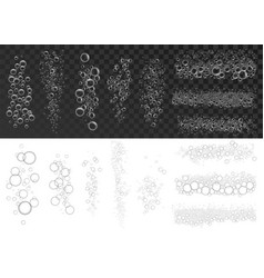 foam effect icon set realistic style vector image