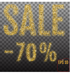 Gold sale 70 percent shine salling background for vector