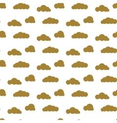 Golden clouds seamless pattern Dense sky vector