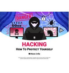 Hacker poster vector