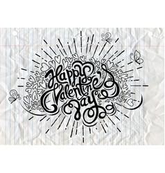Hand drawn doodle heartsvalentines day vintage vector