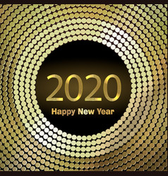 Happy new year 2020 background with golden vector