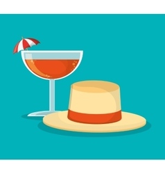 Hat of summer and vacation design vector