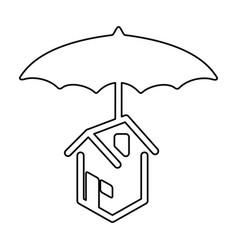home umbrella protection vector image