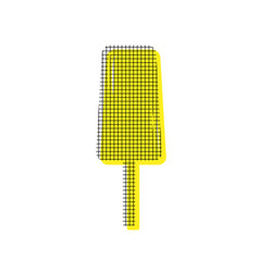 Ice cream sign yellow icon with square vector