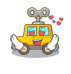 In love cartoon clockwork toy car for gift vector