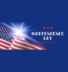 independence day banner greeting card vector image