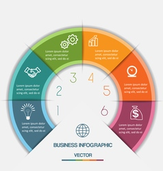 Infographic on six positions vector