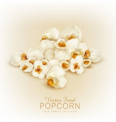 Isolated popcorn vector