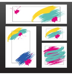 light multicolored blots vector image