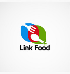 Link food logo designs concept icon element and vector