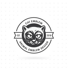 logo and label cat head vector image