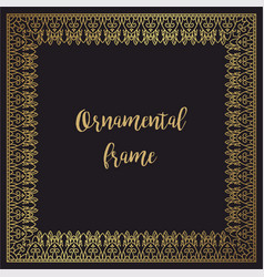 Luxury golden frame for invitations design vector