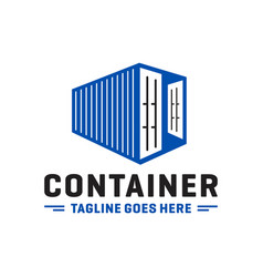 modern container or metal box logo vector image