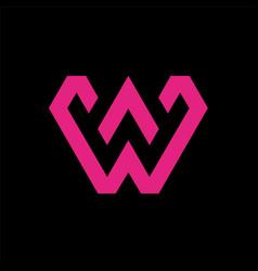 Modern letter w logo vector