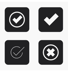 Modern vote icons set vector