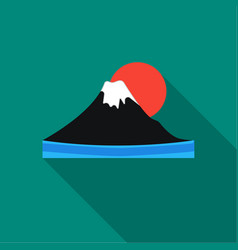 mount fuji icon in flat style isolated on white vector image
