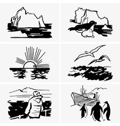 North sea vector image