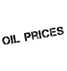 Oil Prices black rubber stamp on white vector