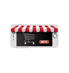 online shop on smart phone vector image