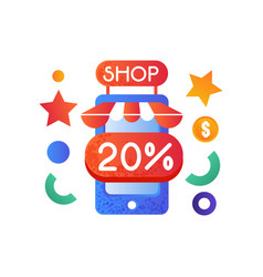 online store internet shopping concept vector image