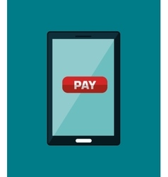 pay and commerce on line with smartphone vector image