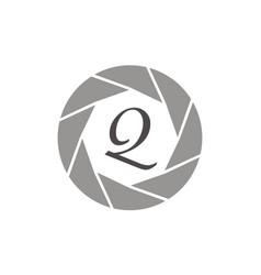 Photography service letter q vector