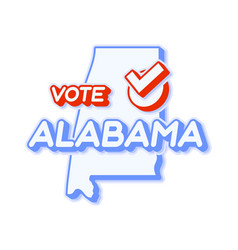 Presidential vote in alabama usa 2020 state map vector