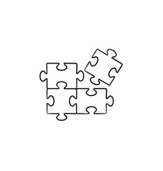 puzzle hand drawn sketch icon vector image