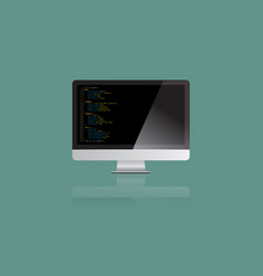 Realistic large monitor display mock up vector